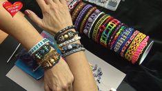 Ideen mit Herz - Loom Bänder - Armband Idee Nr. 6 (mit Strass-Rondellen)