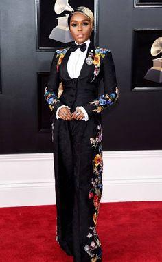Janelle Monáe: 2018 Grammys Red Carpet Fashion I love her style ♥️