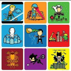 I Man Lee, Skottie Young, Peanuts Comics, Geek Stuff, Batman, Marvel, Hero, Funny, Painting