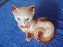 Vintage Ceramic Siamese Cat Made In Brazil