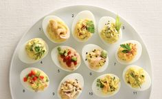 Put down the paprika! We've got 11 flavorful and festive twists on deviled eggs that are perfect for Game Day, parties or Easter appetizers. Whether you love curry, bacon, wasabi, or are just looking to lighten up the recipe a bit, there's bound to be an egg for you on this list!
