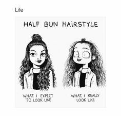"""10.5k Likes, 118 Comments - HAIRSTYLES (@hairstyles) on Instagram: """"Life in a nutshell. Which one are you? (Me: Right )"""""""