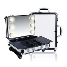 9522d0710a Shany Mini Studio ToGo Makeup Case with Lights - Black White