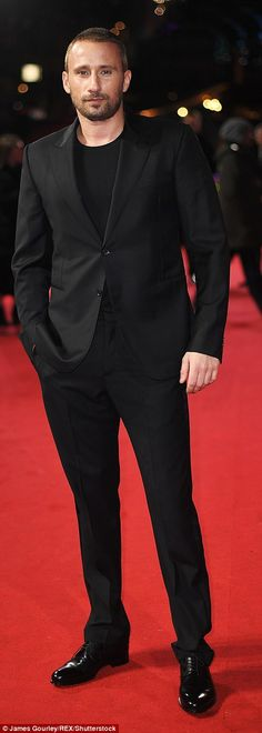Suave! Meanwhile Mathias Schoenaerts andFrancis Lawrence put on dapper displays for the c...