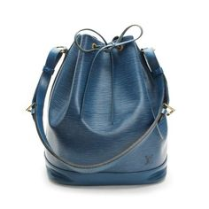 Louis Vuitton Noe Epi Shoulder bags Blue Leather M44005