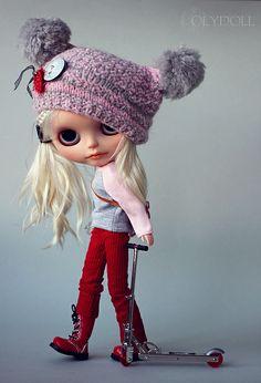 OOAK Blythe Little Tomboy BARBARA custom art doll