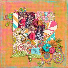 August Template Challenge Freebie by Amy Martin; Gypsy and coordinating Gypsy word art from Etc by Danyale