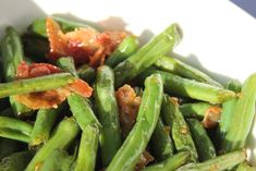 Do you have a bunch of Fresh Green Beans from the garden? This is the way my Grandma served the fresh beans from her garden. Except she used all bacon grease and no soy sauce. You may finish the beans off with freshly grated Parmesan cheese. You can put fresh Parmesan on just about anything …