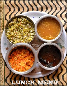 South Indian lunch menu simple-5 http://www.upala.net/2015/08/south-indian-lunch-menu-simple-5.html