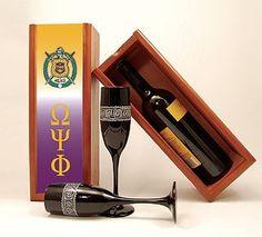 Omega Psi Phi wine box