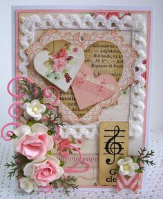 G Clef Valentine Card - Scrapbook.com