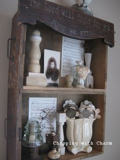 DIY Rustic Farmhouse Shelf Made from Old Drawers!
