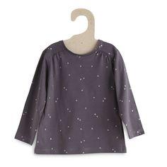 Tee-shirt coton imprimé pois                                                                                                                                                                                                                                                                                                                                                              gris Petite fille