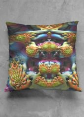 Accent Pillow - Luster Square - Yzx in Rainbow by VIDA Original Artist Throw Pillows, Create, Unique, Artist, Beautiful, Collection, Design, Toss Pillows, Cushions