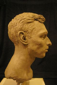 Stoneware clay Portrait Sculptures / Commission or Bespoke or Customised sculpture by artist Naomi Bunker titled: 'Portrait of Adam (Commission Heads or Busts sculptures)'
