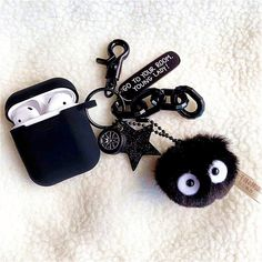 Cartoon Case for Apple Airpods 1 & 2 Charging Case, Cute Silicone Cartoon Japan Anime Spirited Away Black Soot Briquette Figures Character Soft Protective Airpod Cover Cases for Kids Teens G (Soot) Cute Ipod Cases, Girly Phone Cases, Iphone Cases, Wet Iphone, Totoro, Accessoires Iphone, Earphone Case, Love Is In The Air, Air Pods