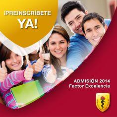 #FACTOREXCELENCIAUPCH Admisión 2014  ¿Ya te preinscribíste?   ¡Hazlo aquí y pasa la voz!:  https://www.facebook.com/UniversidadPeruanaCayetanoHerediaUpchOficial/app_481752021904588?ref=ts