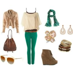 Teal and Brown go so well together!