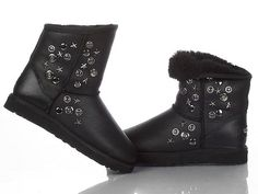 Jimmy Choo & Ugg 5829 Metallic Boot Black
