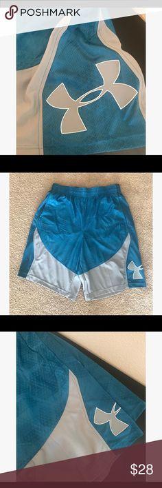[under armour] men's shorts Blue/Teal & grey basketball shorts. NWT. Under Armour Shorts Athletic