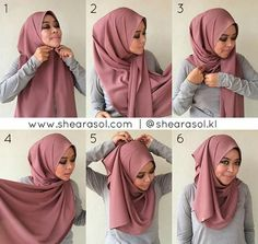 Hijab Tutorial Hijab… Ya Allah… may she be among of those you are please with… May we all meet in Jannah… Hijab Tutorial Source : Hijab… Ya Allah… may she be among of those. Simple Hijab Tutorial, Hijab Style Tutorial, Square Hijab Tutorial, Mode Turban, Turban Hijab, Pashmina Hijab Tutorial, How To Wear Hijab, Street Hijab, Hijab Fashion Inspiration