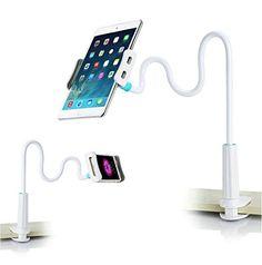 Support pour Smartphone Tablette Téléphone , Lonzoth Support de 80cm Bras avec Clip pour iPhone iPad Kindle GPS Samsung Blackberry LG…