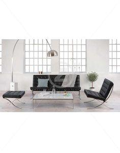 Replica Barcelona 2 Seater Sofa - Black   ZUCA   Homeware, Chairs, Replica Furniture, Barstools & Office Furniture in Wellington, New Zealand