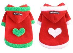 £14.00 PUPPY ZZANG CHRISTMAS HEART DOG JACKET - Little Pooch Dog Boutique