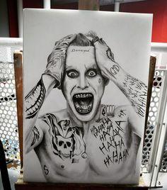 Joker ( Jared Leto) Portait by GMD Art #joker #jared #leto #jaredleto…