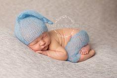 Mohair Sleep Cap Set - PDF PATTERN - newborn baby toddler knit bonnet hat photo prop mohair