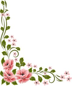 Boarder Designs, Page Borders Design, Borders For Paper, Borders And Frames, Botanical Flowers, Flowers Nature, Flower Frame, Flower Art, Black And White Flower Tattoo