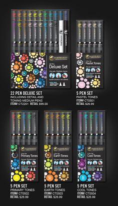 Chameleon Color Tops 5 Pen Set Alcohol Blending Gradient Nature Colour Tones