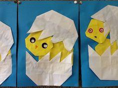 lente vouwen kuiken Origami, Crafts For Kids, Workshop, Easter, Tableware, Crowns, Crafts, Plants, Crafts For Children