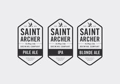Saint Archer Brewery brands. Clean, Vintage inspired. Really Diggin' it.