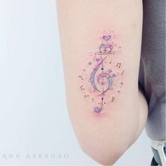 Discover recipes, home ideas, style inspiration and other ideas to try. Girly Tattoos, Sexy Tattoos, Unique Tattoos, Cute Tattoos, Body Art Tattoos, Small Tattoos, Tattoos For Women, Tatoo Music, Music Tattoos