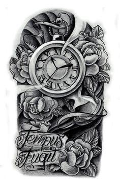 clock tattoo