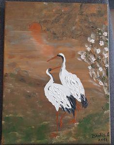 Pasărea albă Bird, Painting, Animals, Animales, Animaux, Birds, Painting Art, Paintings, Animal