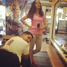 #APITConnect - When we take break btwn PT  #workhard #stayfit #pinkday #atgym #weights #cardio #sweatitout #shapeup #lookgood #feelgood #fitnessgoals #paparazzi #maaz.... Eat sleep gym repeat   #bodyholics by Abhidnya bhave http://bit.ly/1SPCYcN
