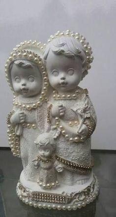 Resultado de imagem para imagens de anjos em gesso customizadas