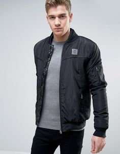 Get this Born Rich's leather jacket now! Click for more details. Worldwide shipping. Born Rich Jacket with Faux Leather Detail - Black: Jacket by Born Rich, Midweight woven fabric, Padded for extra warmth, Double-layered baseball collar, Zip placket, Functional pockets, Ribbed trims, Regular fit - true to size, Machine wash, 100% Polyester, Our model wears a size Medium and is 181cm/5'11.5 tall. (chaqueta de cuero, leather, suede, suedette, faux leather, polipiel, biker, ante, de cuero…