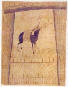 Martín Ramírez  Mexicain, XXe siècle. Né en 1895 en Mexique; mort en 1963 dans la Californie.