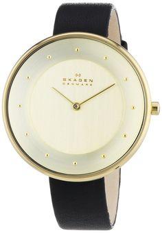 Skagen Damen-Armbanduhr Gitte Analog Quarz Leder SKW2262: Amazon.de: Uhren