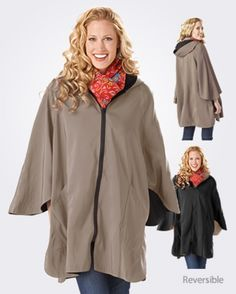 Patty Cape Sleeved Poncho