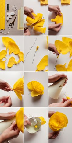 Crepe paper flower DIY