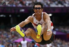 Day 12 - Japan's Keisuke Ushiro competes in the men's decathlon long jump event at the London 2012 Olympic Games. PHIL NOBLE/REUTERS