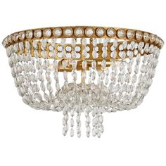 Visual Comfort Julie Neill Navona 4 Light 24 inch Gild and Crystal Flush Mount Ceiling Light, Large Basket Flush Mount Lighting, Flush Mount Ceiling, Visual Comfort Lighting, Circa Lighting, Large Baskets, Clear Crystal, Ceiling Lights, Crystals, Silver
