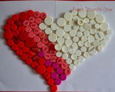 bottle cap heart - penso+invento+creo