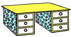 matchbox desk for dolhouse finished step How to Make a Miniature Desk for Your Dolls House Craft for Kids