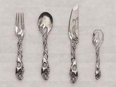 rachelrex: deathwishyeezuz: Silverware by Tim Burton. Now available at Macy's DO WANT