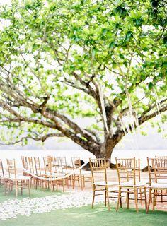Hawaii ceremony set up